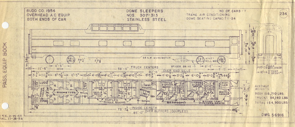 Amtrak Passenger Car Schematics