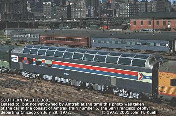 3603 as leased amtrak 9372 on sfz at chicago 7 72 john kuehl. Black Bedroom Furniture Sets. Home Design Ideas