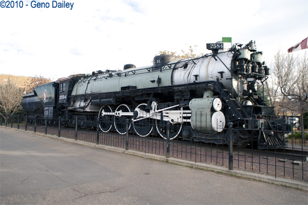 More photos taken along the route of amtraks empire builder great northern 4 8 4 northern steamer 2584 on display at havre mt station sciox Choice Image