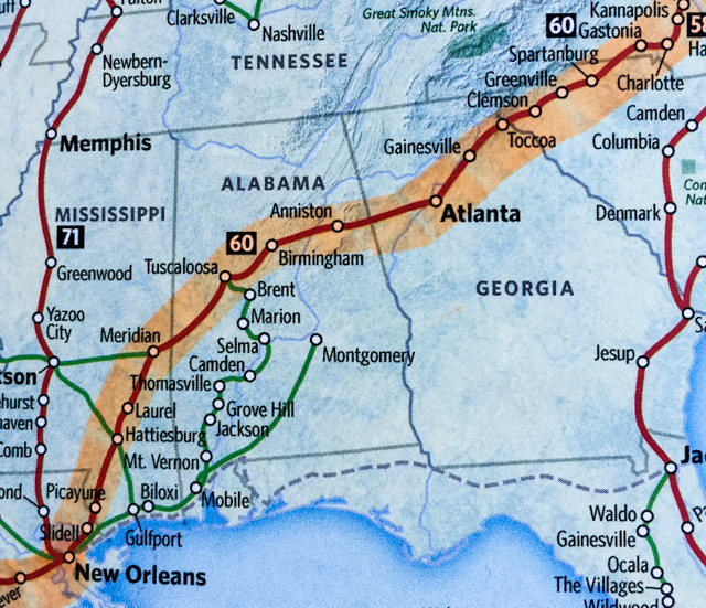 Amtrak Nc Map.Crescent From Charlotte Nc To New Orleans La