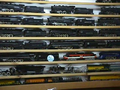 Bill displays his extensive American Flyer reg collection on
