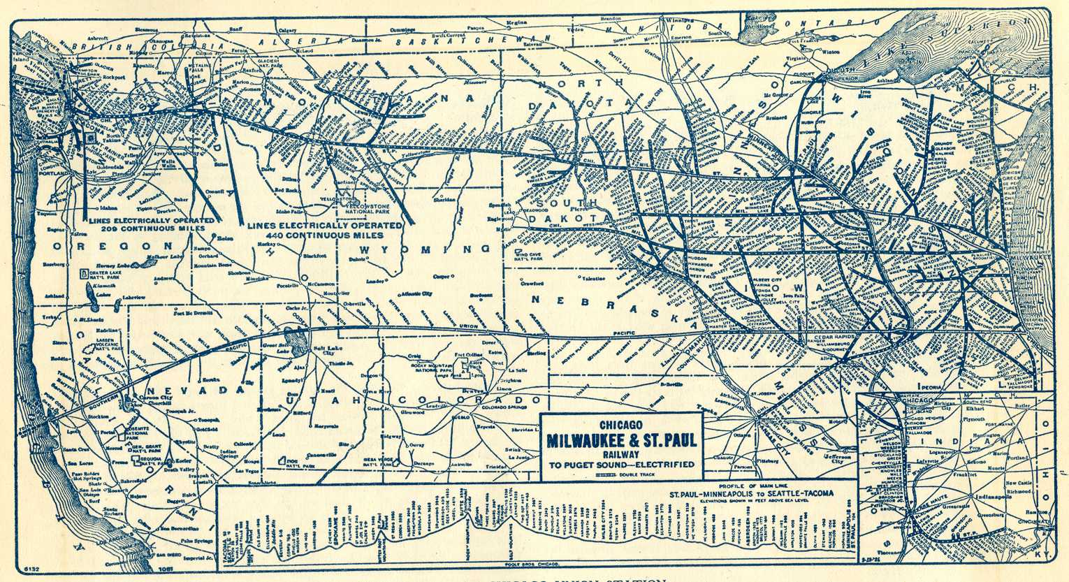 Milwaukee Road Route Map