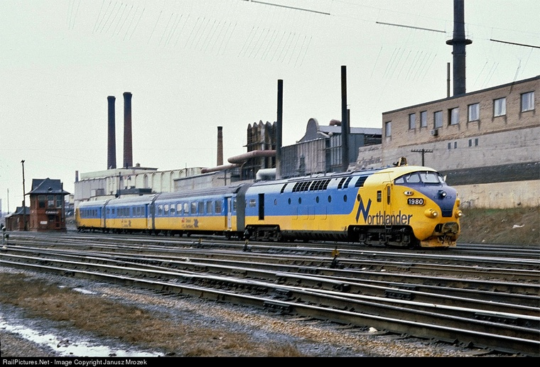 Onr 1980 Original Tee Train Locomotive Arriving As No 121 Northlander Via The Cn Newmarket