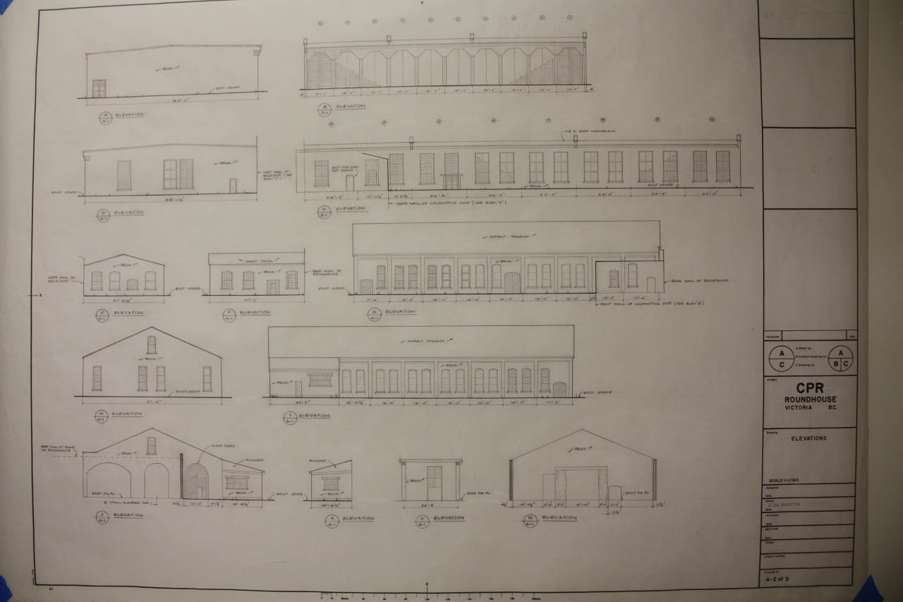 Roundhouse Floor Plan And Elevations Plan