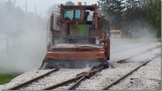 Levelling Out The Rock Ballast On Parkside Siding Used To