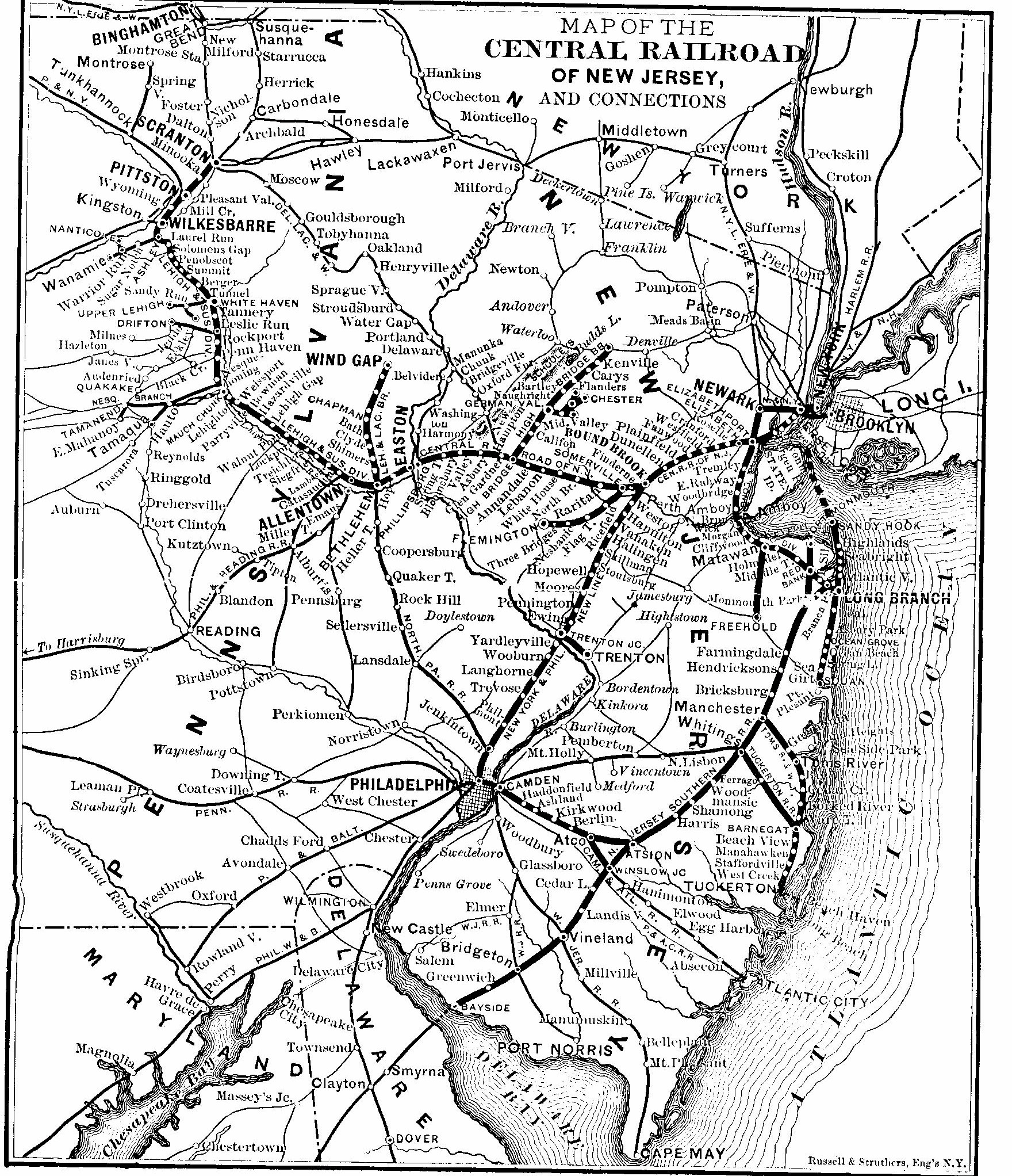 The Jersey Central through Roselle, Roselle Park, Aldene, and Cranford