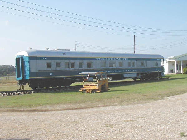 """This is T&P Business Car #5 """"Ellsmere."""" I took this picture when the"""