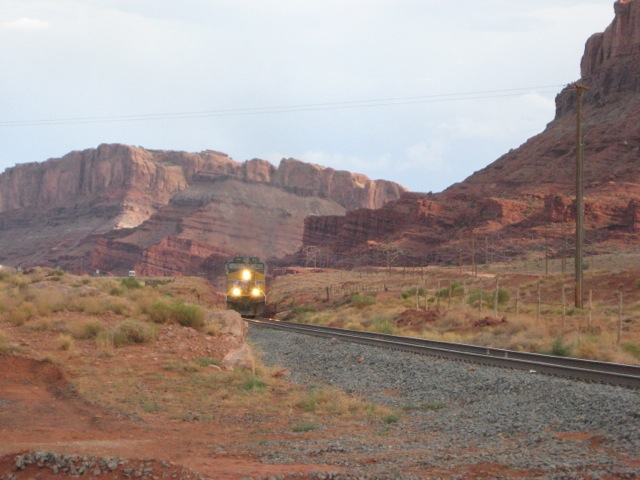 Northbound Up Train Near Arches National Park