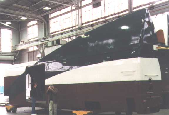 this is the baggage car painted in amtrak cascades colors. Black Bedroom Furniture Sets. Home Design Ideas