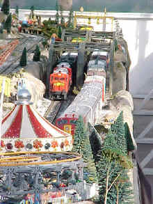 Close Up Photo Of Bridges On The Garden Factory Train Display